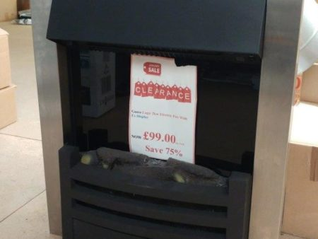 Gazco Logic Electric Fire with Chrome Front (Colchester) - Was £399 NOW £99