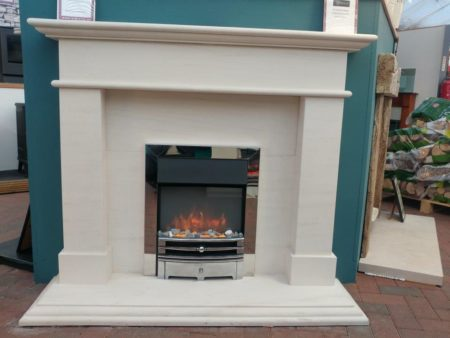 Gazco Logic2 Electric Inset Fire with Polished Frame and Holyrood Fret (surround sold seperately) (Ipswich) - Was £425 NOW £382.50