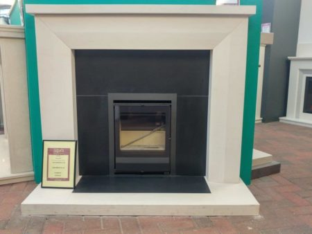 Natura Fireplaces Emma 54-inch Surround with Black Granite Hearth and Back Panel (stove sold serperately) (Ipswich) - WQas £1600 NOW £800
