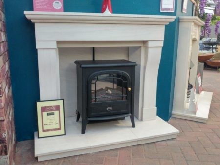 Newman Fireplaces Limestone Surround - Was £1599 NOW £699 Dimplex Club LED Electric Stove - £Was £257 NOW £231 (Ipswich)