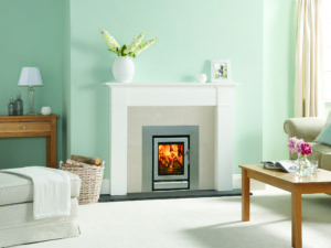 Stovax Riva 40 Multi-Fuel Inset Stove in Storm Metallic (Chelmsford) - Was £1419 NOW £1135.20