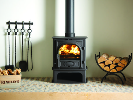 Stovax Stockton 5 Midline Multi-Fuel Stove in Black (Chelmsford) - Was £989 NOW £741.75