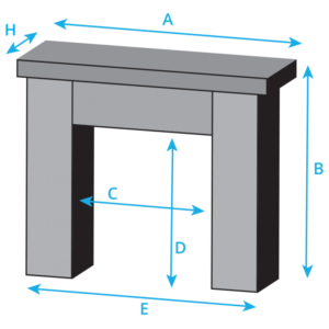 Trent Fireplace Dimensions