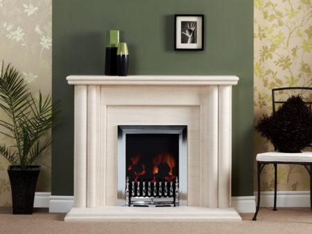 Natura Corinth Limestone Fireplace