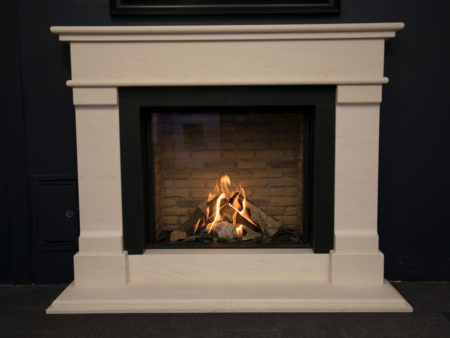 Grace Limestone Fireplace