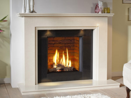 Natura Jessica Limestone Fireplace
