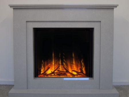 Natura Jorja Micro Marble Fireplace