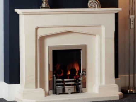 Madison Limestone Fireplace Hearth)