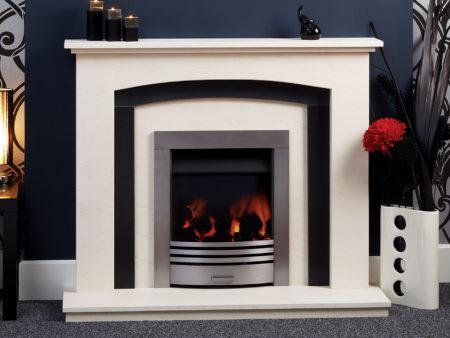 Natura Merano Limestone Fireplace