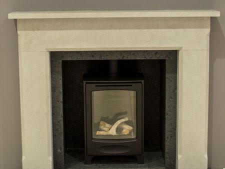 Natura Marco Limestone Fireplace