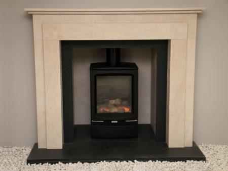 Natura Wentworth Limestone Fireplace