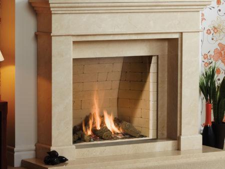 Natura Wirdum Limestone Fireplace