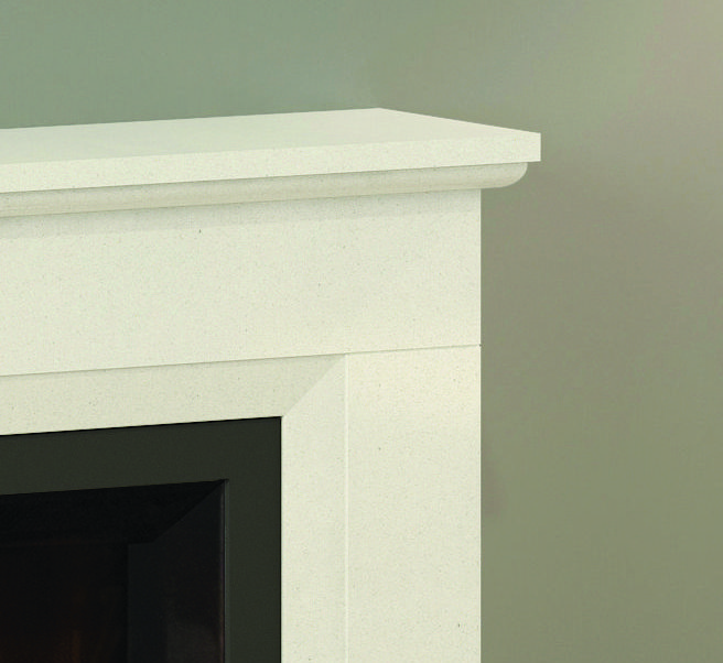 Alesso Petite Electric Fireplace Detail Mantle