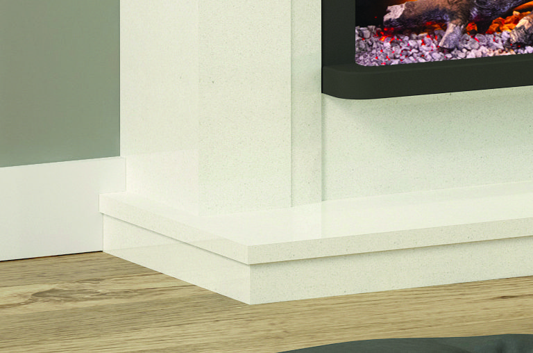 Alesso Petite Electric Fireplace Detail Hearth