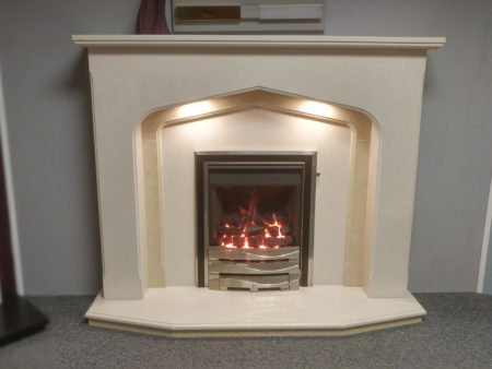 Arnolds Fireplaces 54 inch Winchester surround in Moonlight & Corsica marble (Cambridge) - Was £1396 NOW £1000