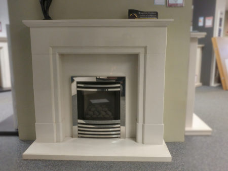 Capital Fireplaces 48 inch Acombe surround in Barley White with lights (Cambridge) - Was £1300 NOW £900