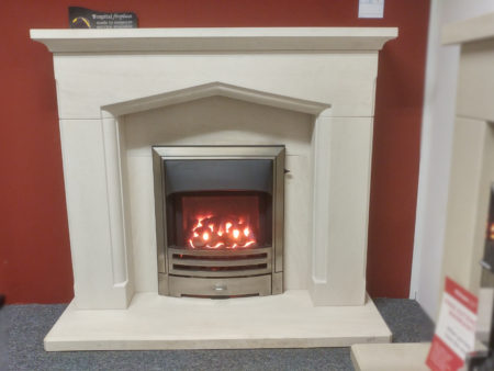 Capital Fireplaces 48 inch Swinford surround in Portuguese limestone (Cambridge) - Was £1035 £800