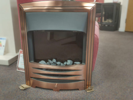 Capital Fireplaces Phantasy with Arbi Brushed Copper frame 16 inch inset electric fire (Norwich) - Was £453 NOW £350
