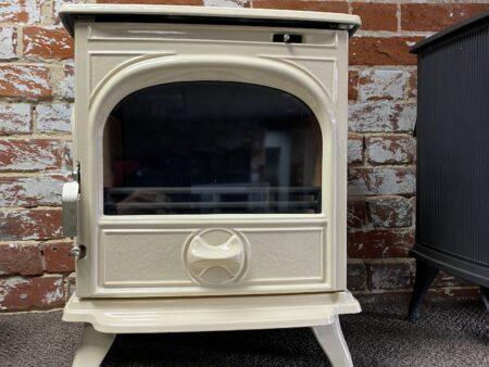 Dovre 250 Clear Door Ivory Enamel Multifuel Ex Display